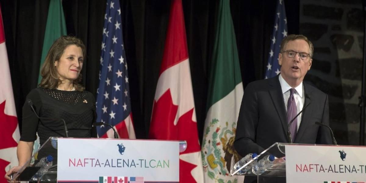 Estados Unidos y Canadá se reúnen para revisar el TLCAN
