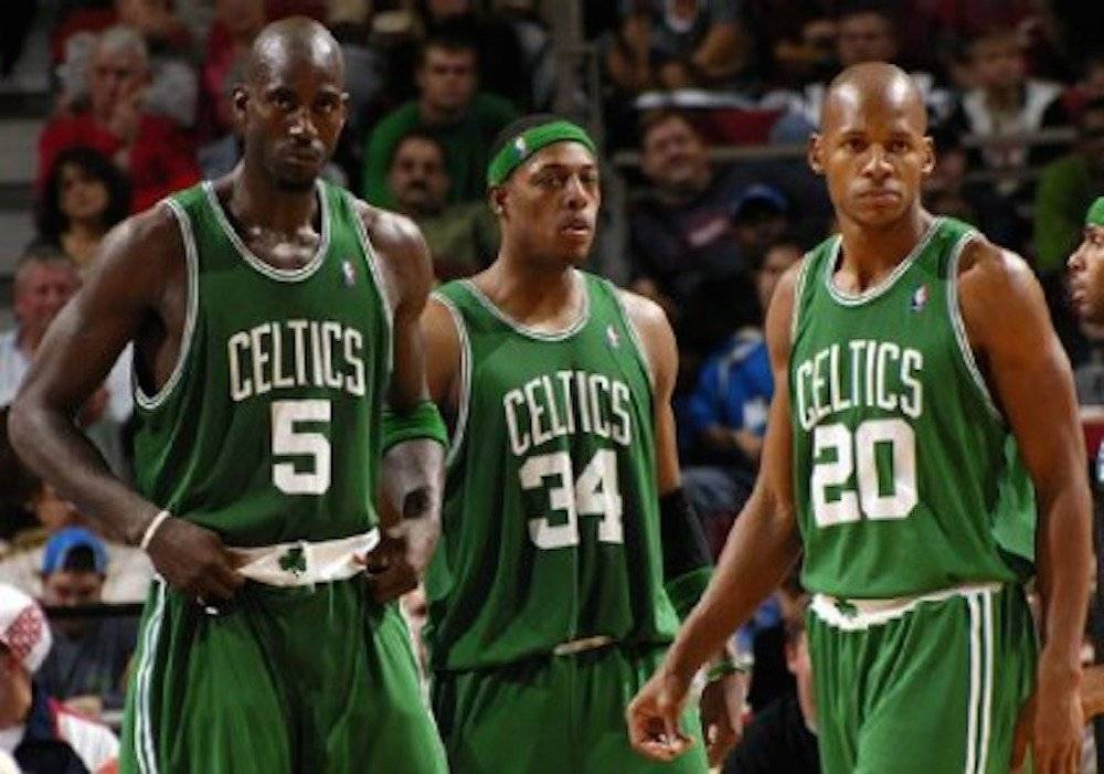 Kevin Garnett, Paul Pierce, Ray Allen / Archivo