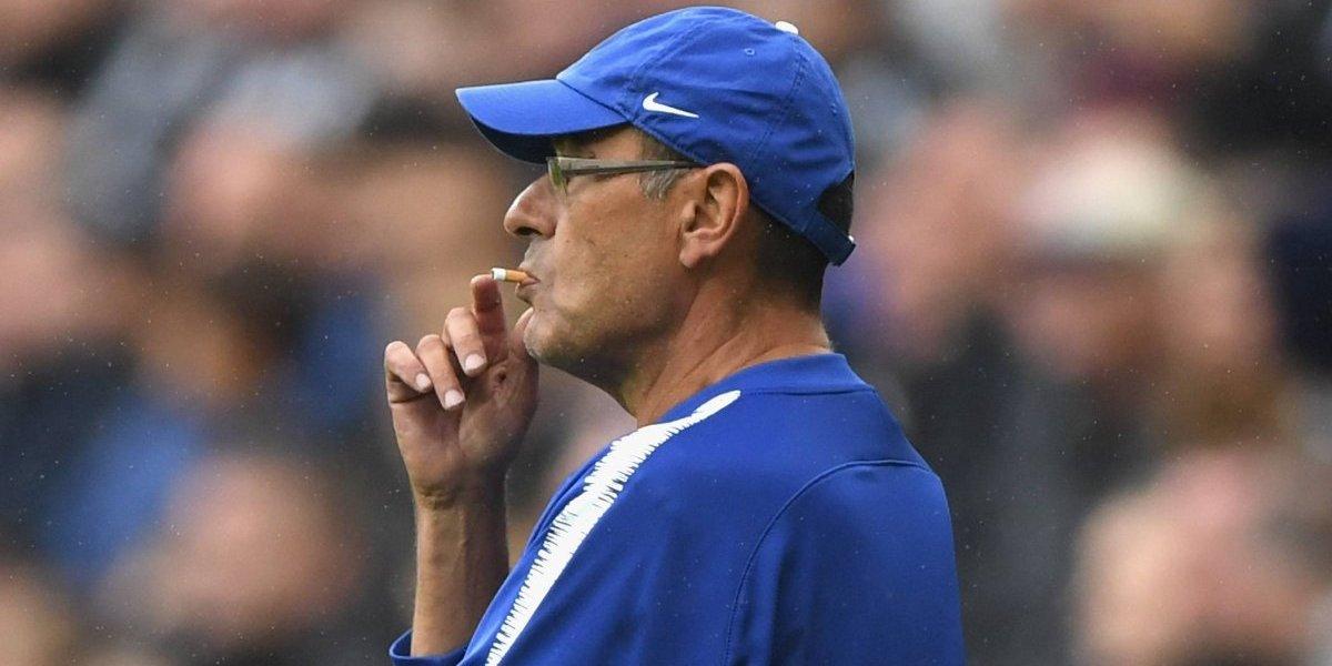 El truco de Maurizio Sarri para fumar durante partidos