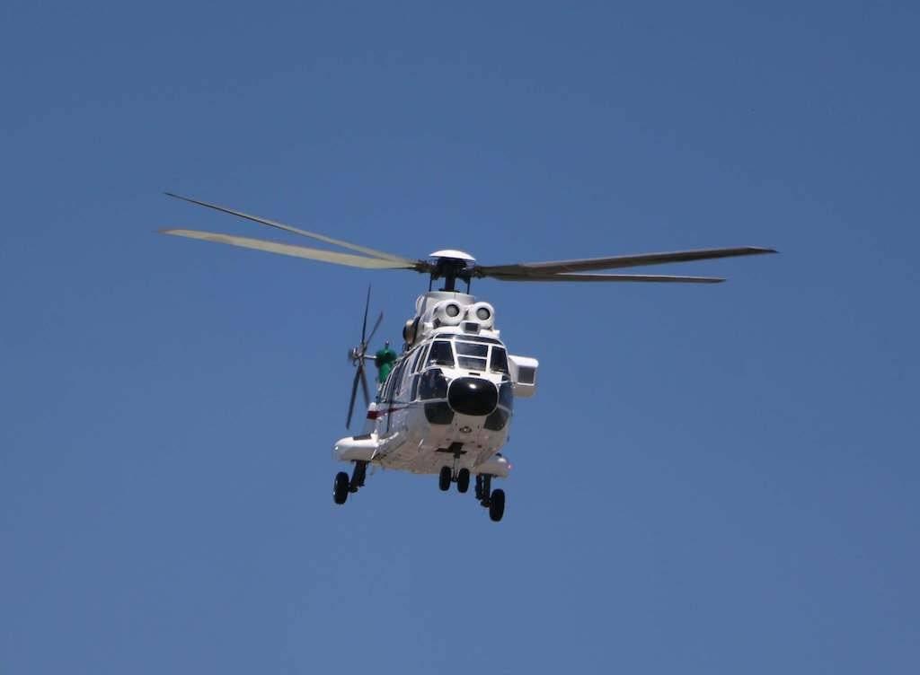 El entonces candidato de republicano Donald Trump arribó a las 13:30 a la Ciudad de México. Un helicóptero Súper Puma despego del hangar presidencial minutos después para trasladarlo a Los Pinos Foto: Cuartoscuro