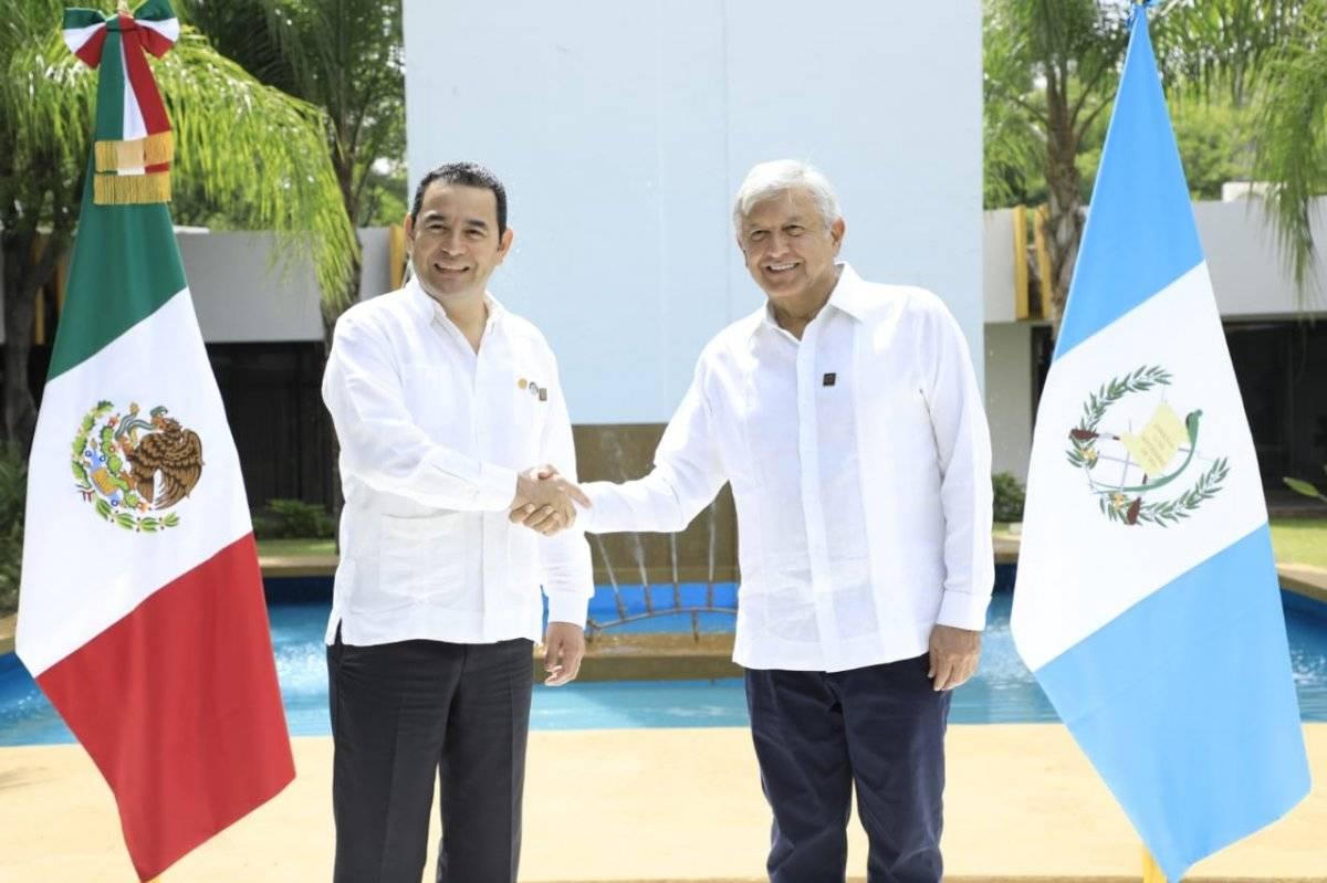Jimmy Morales y AMLO
