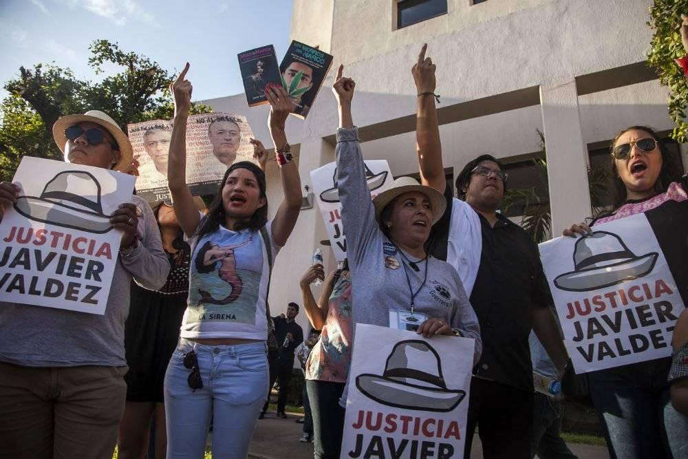 Marcha por homicidio de Javier Valdez Foto: Cuartoscuro