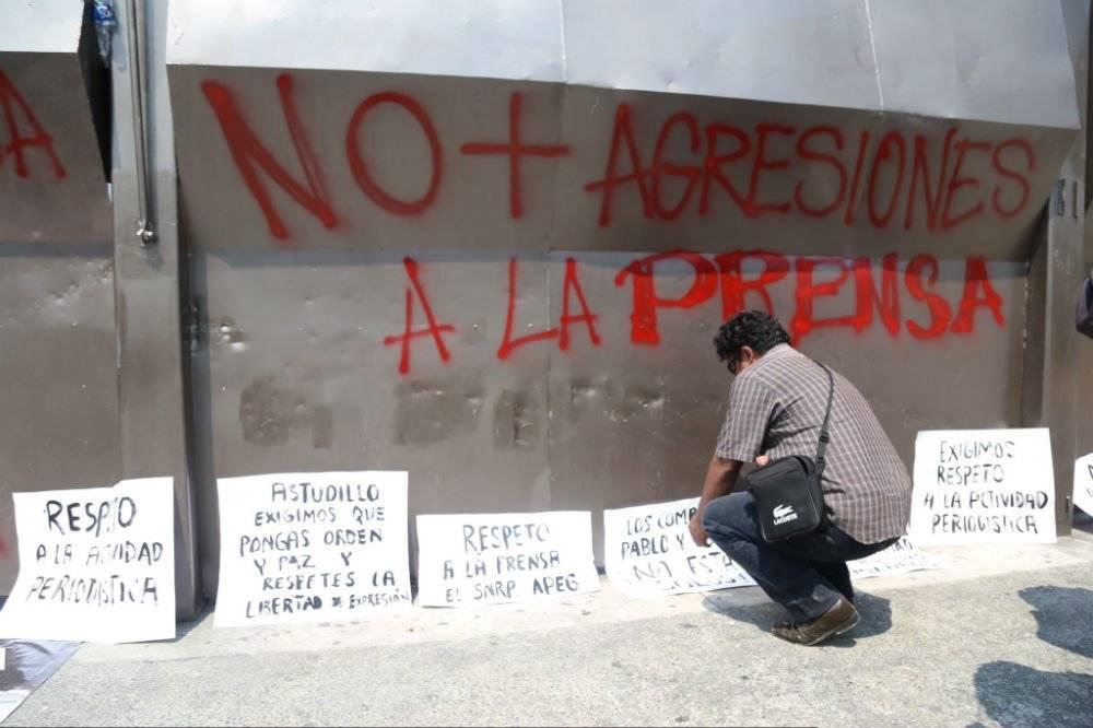 Manifestación de periodistas en Guerrero Foto: Cuartoscuro