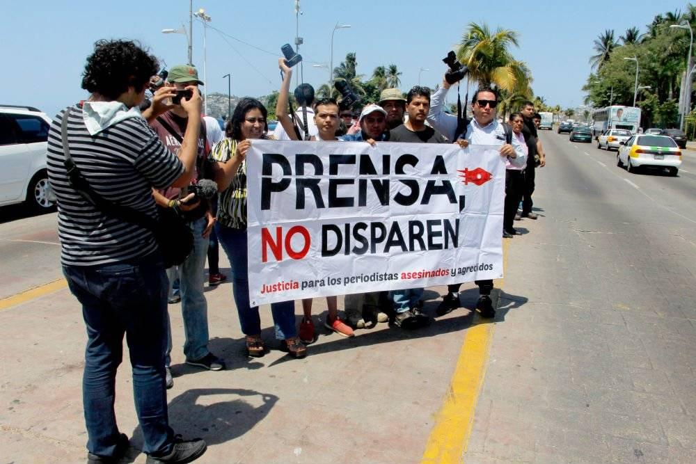 Protesta de periodistas en Acapulco Foto: Cuartoscuro