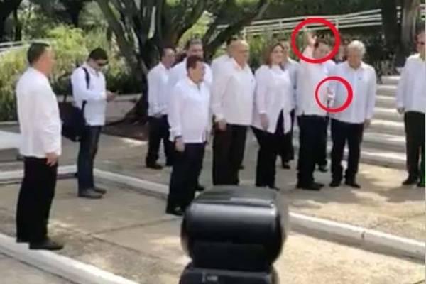 Saludo presidente Jimmy Morales y AMLO