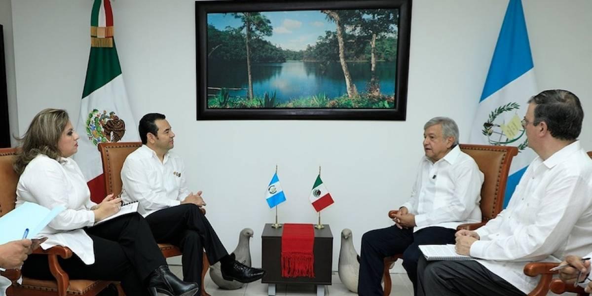 Jimmy Morales se reúne con presidente electo de México, Manuel López Obrador