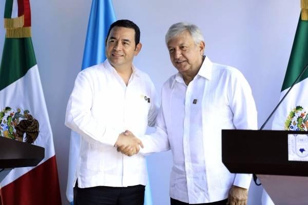 reunión del presidente Jimmy Morales y presidente electo de México Andrés Manuel López Obrador