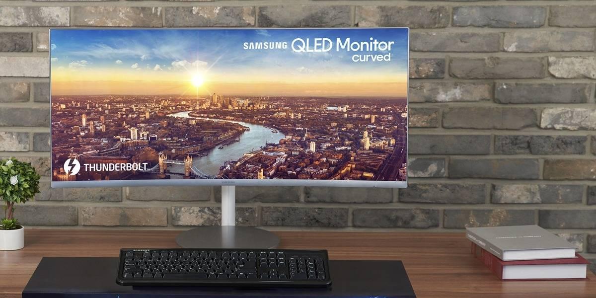 Samsung lanza el primer monitor QLED curvo en el mundo con Thunderbolt 3