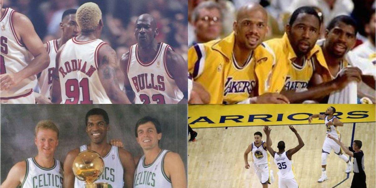 ¿Cuál es la mejor tercia en la historia de la NBA?