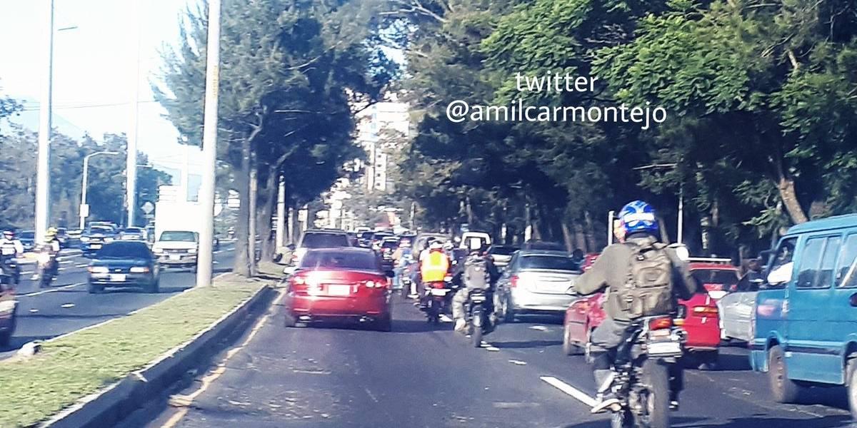 Reportan dos motoristas heridos por percances en Mixco y Villa Nueva