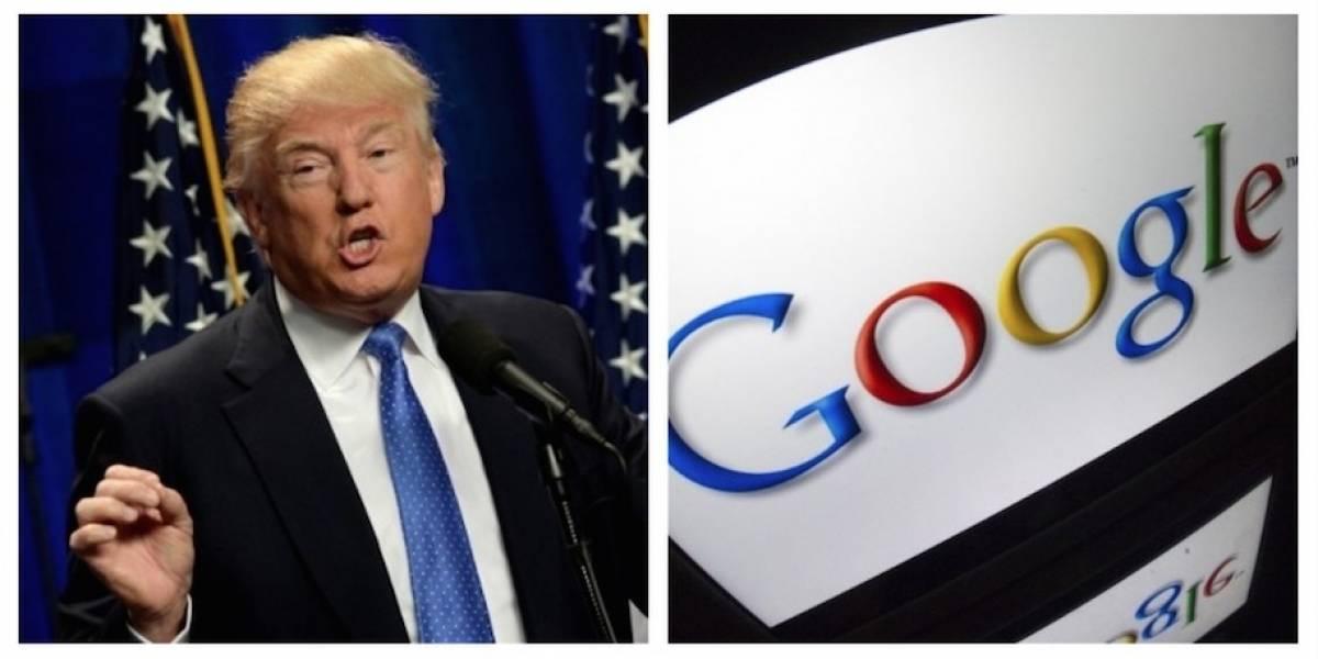 """Trump acusa a Google de """"manipular""""resultados de búsquedas para perjudicarlo"""