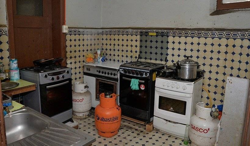 Cocina en vivienda de Providencia