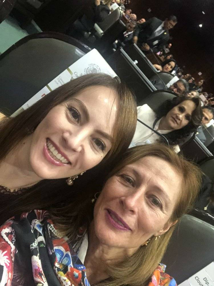 Tatiana Clouthier y Gabriela Cuevas Foto: @tatclouthier