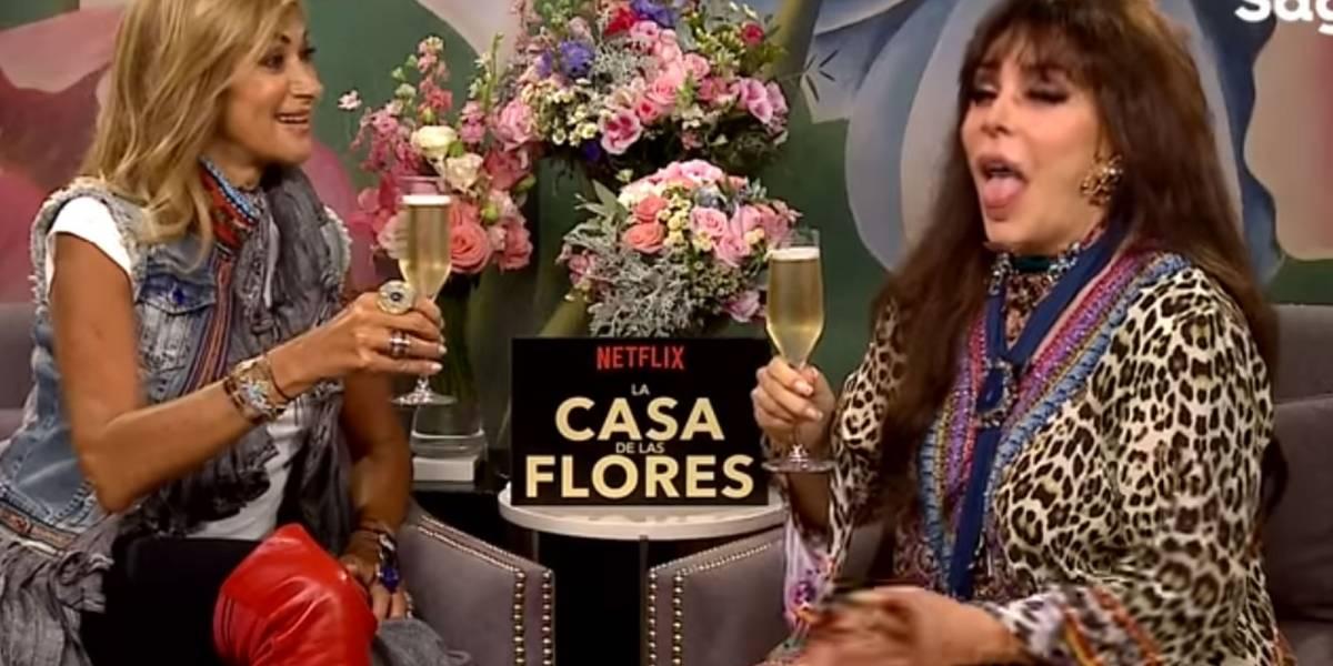 Verónica Castro se embriaga en plena entrevista con Adela Micha