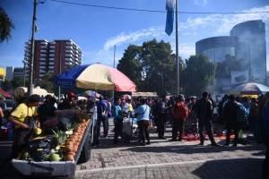 manifestación de maestros en El Obelisco
