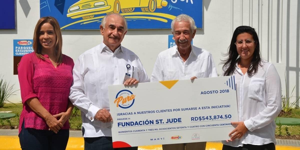 #TeVimosEn: MARTÍ y Sunix realizan donativo a Fundación St. Jude