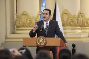 presidente Jimmy Morales presenta programa educativo