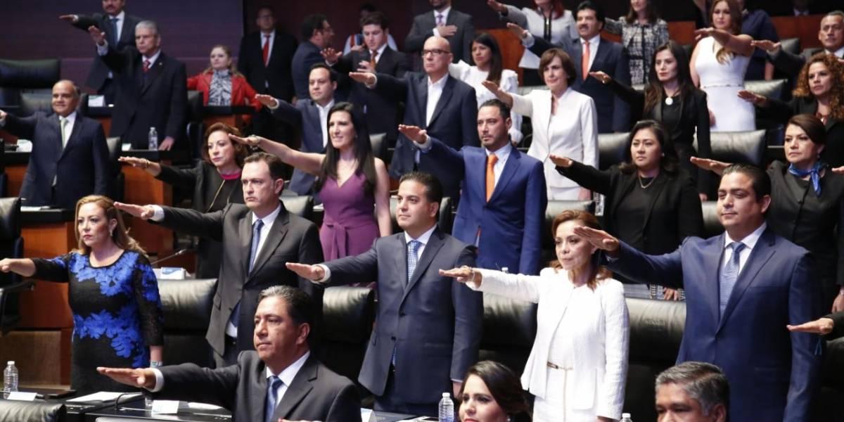 Senadores y diputados rinden protesta en sesiones constitutivas