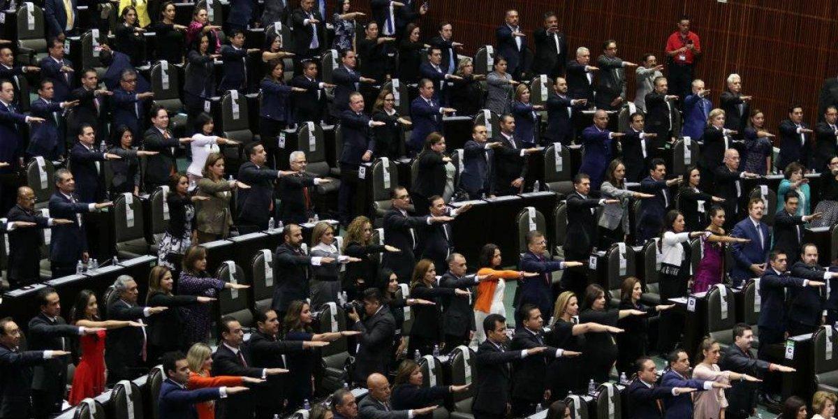 Diputados federales presumen su primer día de trabajo