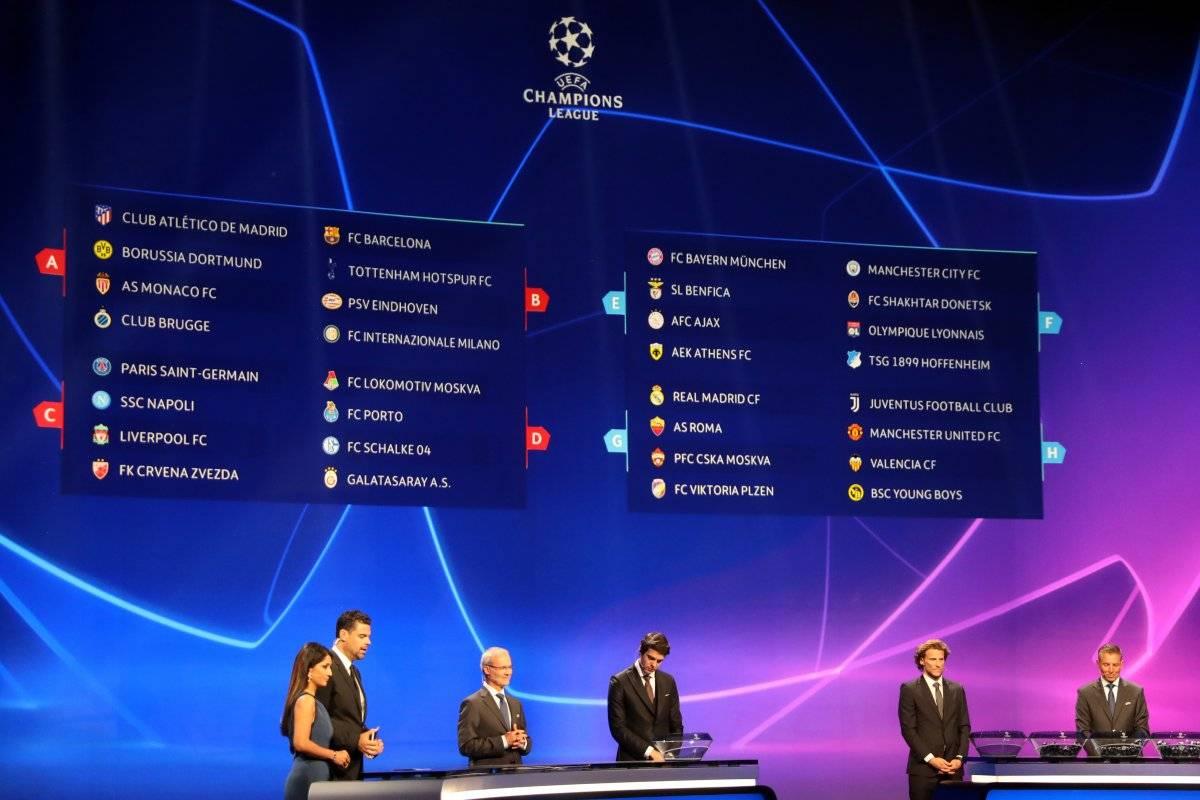 Sorteo Champions League
