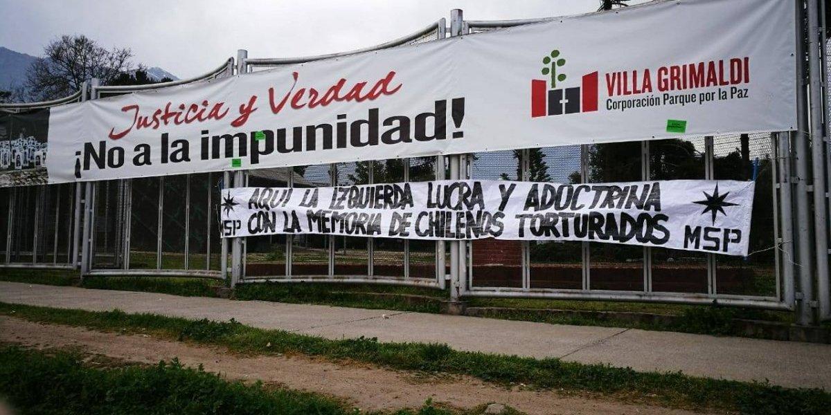 Día del detenido desaparecido: Parque Villa Grimaldi despertó con odioso lienzo del Movimiento Social Patriota