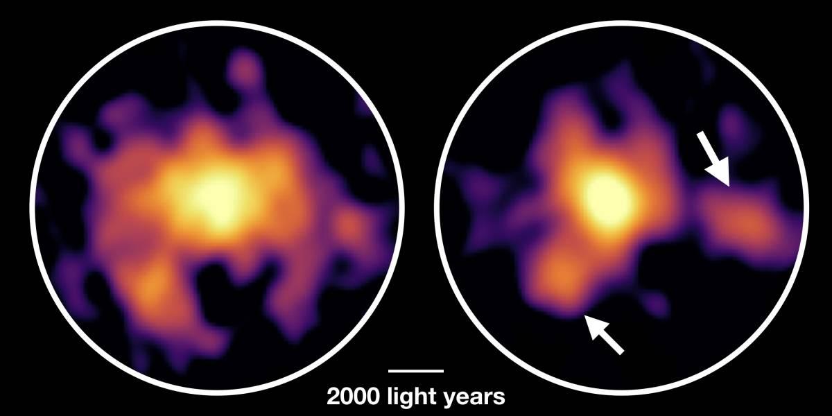 Foto: Crean el mapa de una misteriosa galaxia llena de gas cósmico desde Chile