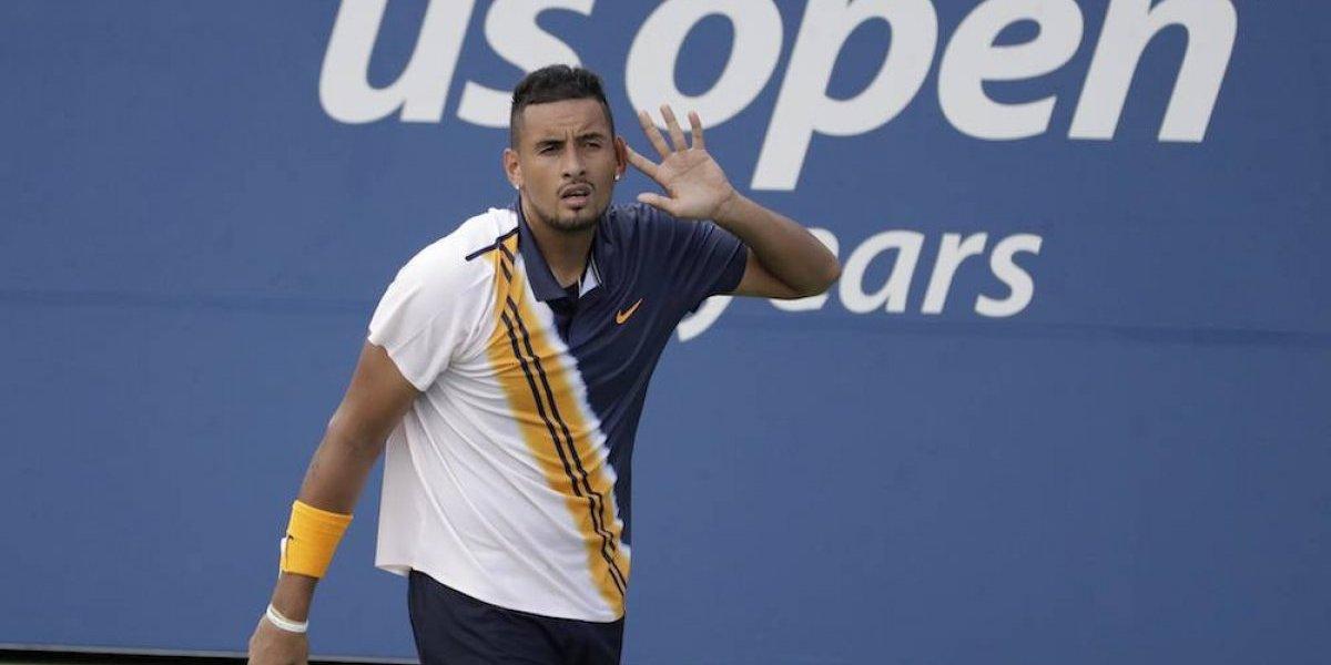 Juez le pide a Kyrgios que se esfuerce más en el US Open