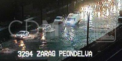 Lluvia causa inundaciones en Iztapalapa y Tlalpan