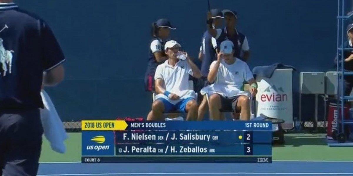 Julio Peralta tuvo un gran estreno en el dobles del US Open