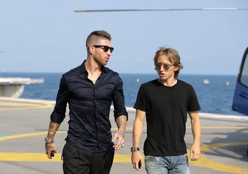 Sergio Ramos y Luka Modric