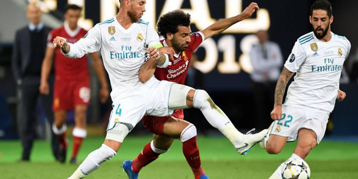 VIDEO: La reacción de Mohamed Salah cuando Sergio Ramos lo saludó en el sorteo de la Champions
