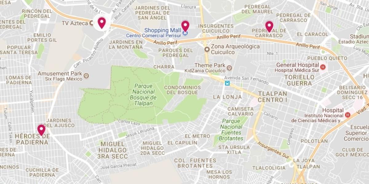 MAPA: Estas son las zonas más afectadas por lluvia y granizo en la CDMX
