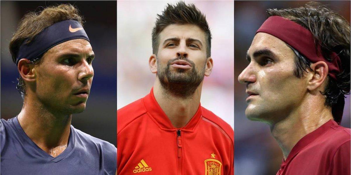 Presencia de Piqué en el mundo del tenis divide opiniones entre Federer y Nadal