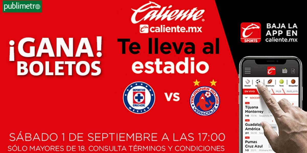 ¡Gana! boletos Cruz Azul vs Veracruz