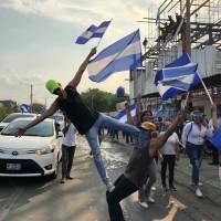 Yoga en medio de protestas en Nicaragua