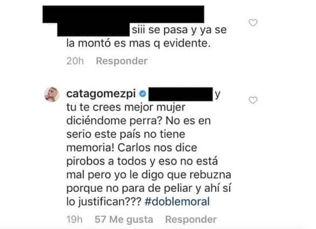 Captura de pantalla Instagram Catalina Gómez