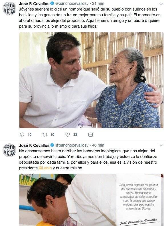 Mensaje de Jose Francisco Cevallos