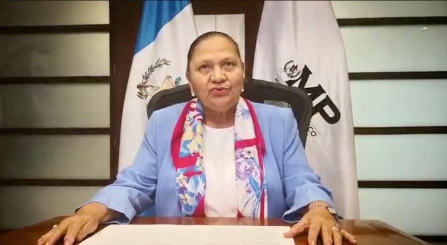 La fiscal general, María Consuelo Porras Argueta, retiró la seguridad que se brindaba a Thelma Aldana. Foto: Captura de pantalla