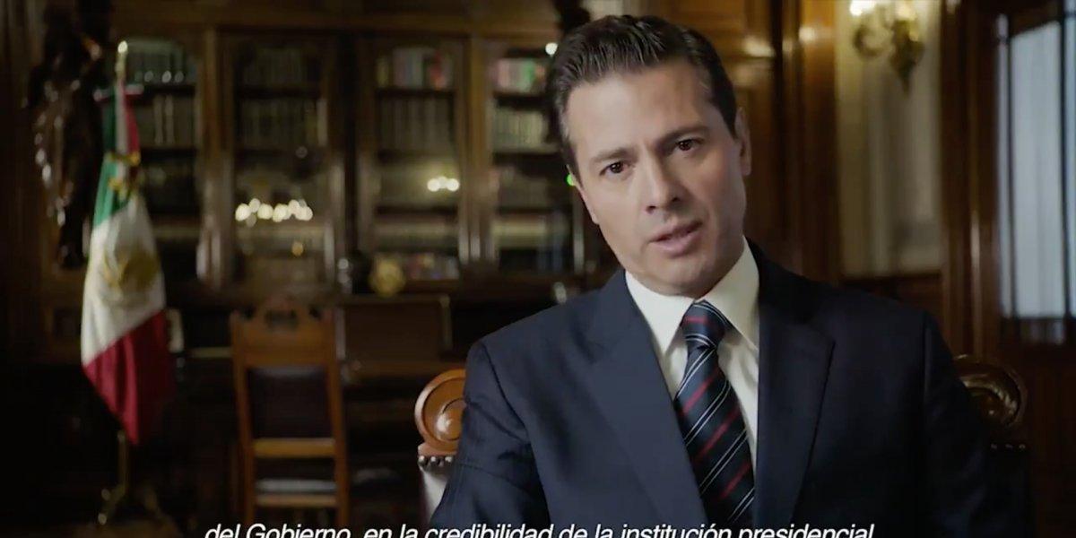 Peña Nieto reconoce errores en manejo de la Casa Blanca