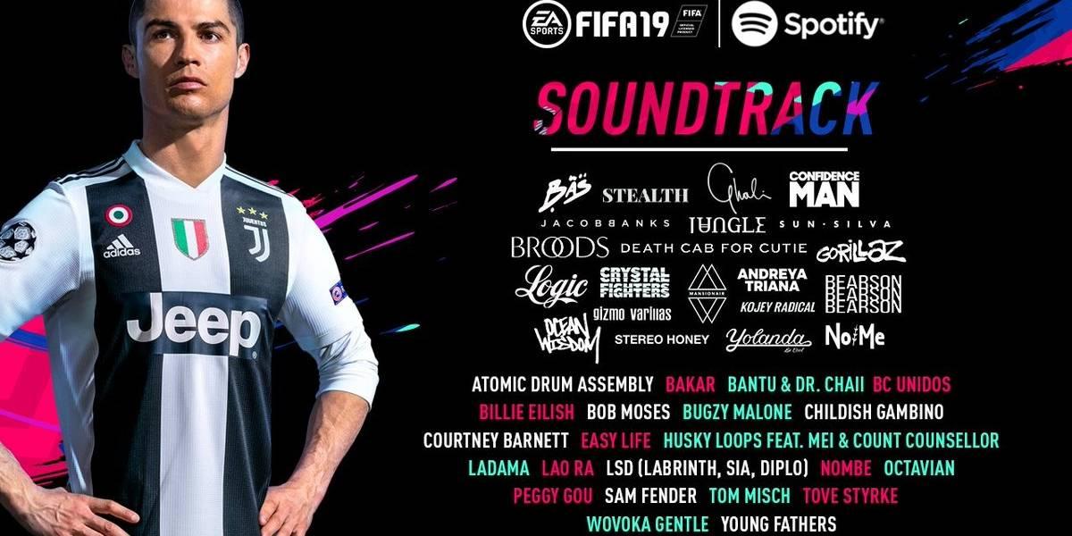 La banda sonora de FIFA 19 incluirá música de Childish Gambino y de Gorillaz