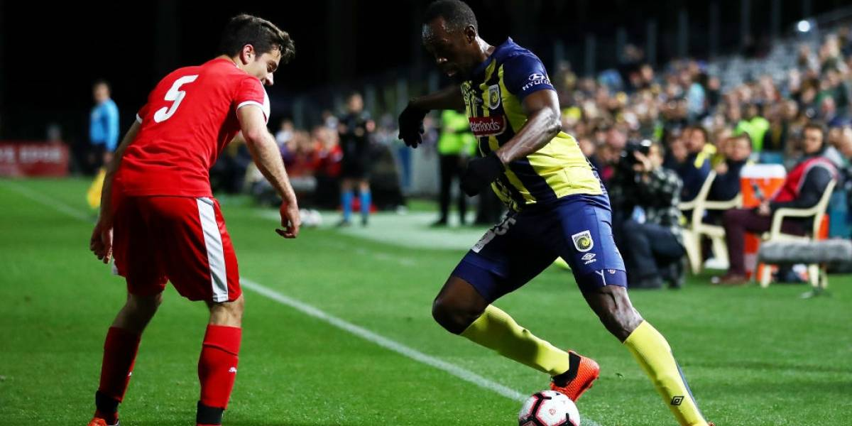 Así evaluó la prensa internacional el debut de Usain Bolt como futbolista