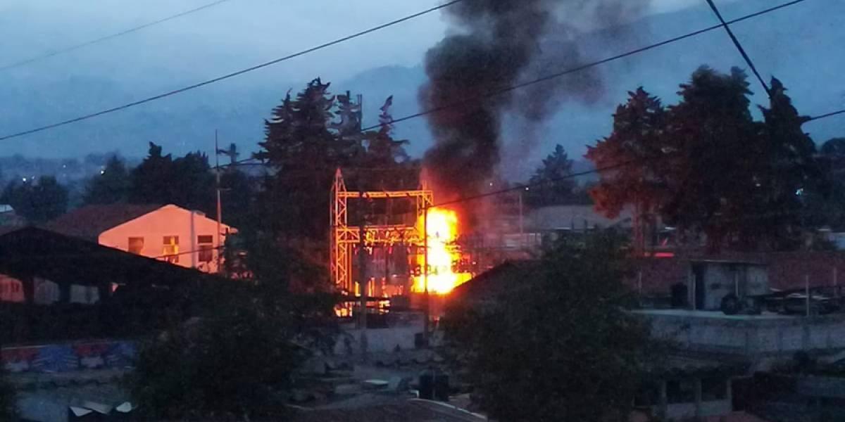 Instalaciones del INDE en Quetzaltenango se incendian