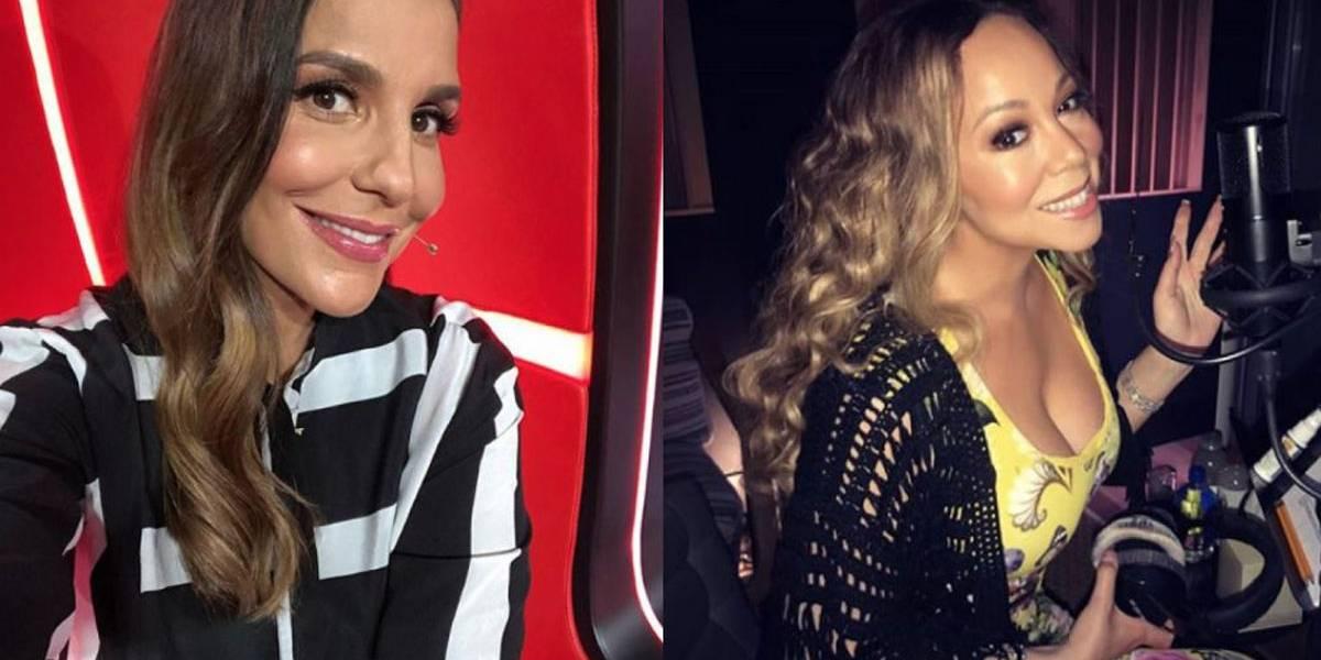 Após 'campanha', Ivete Sangalo passa a ser seguida por Mariah Carey no Instagram