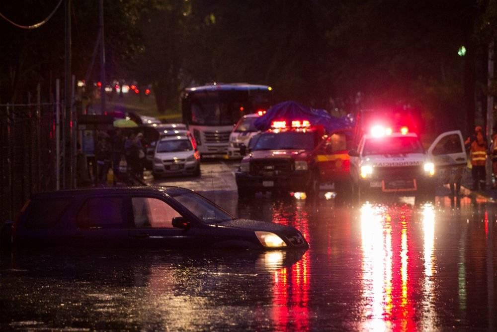 La fuerte precipitación pluvial con granizo registrada la tarde-noche de ayer jueves fue una de las de mayor impacto en lo que va de la presente temporada de lluvias Foto: Cuartoscuro