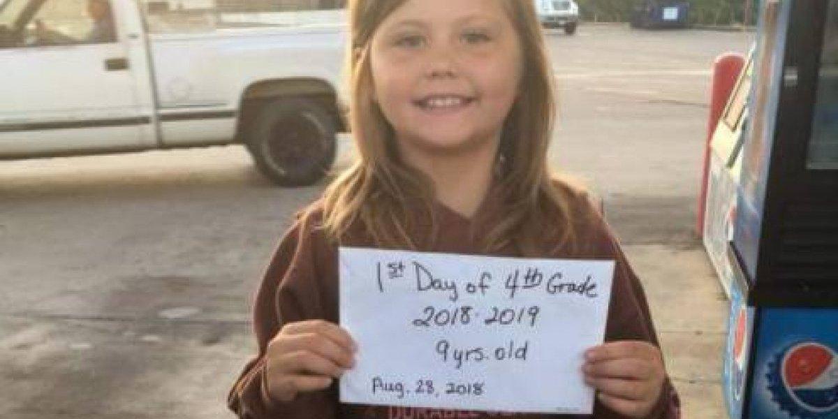 Niña se tomó foto antes de salir al colegio y murió 10 minutos después en accidente