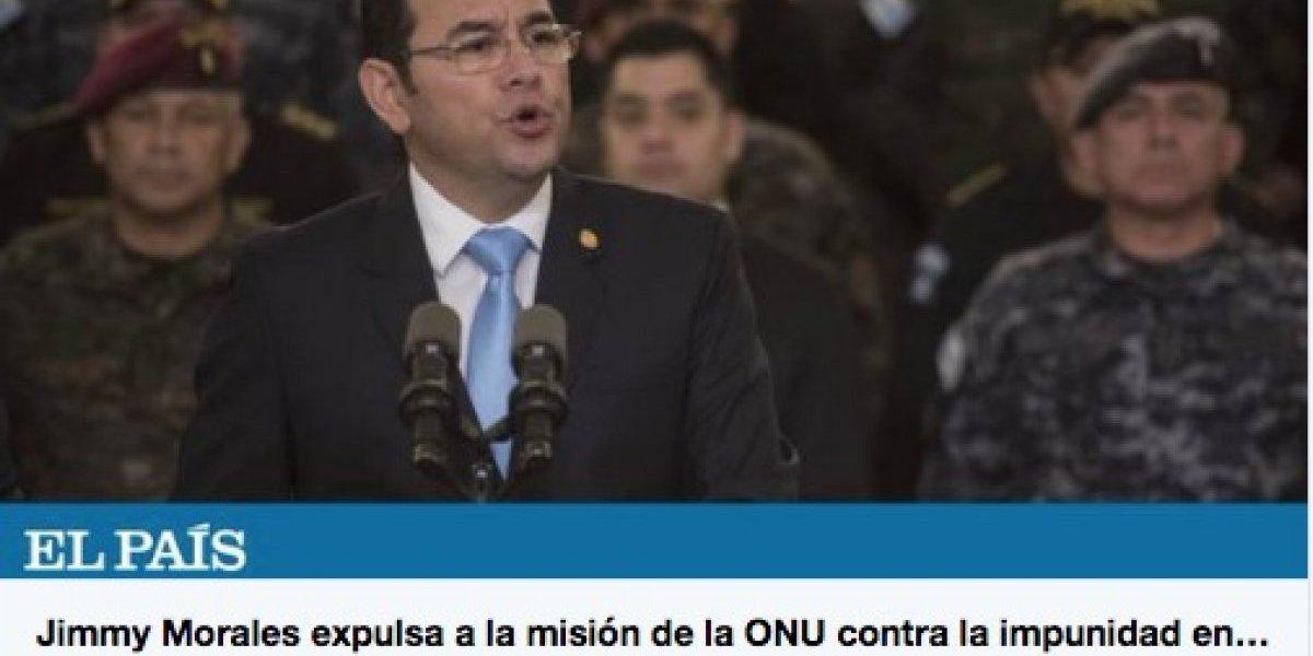 La prensa internacional reacciona ante la no renovación del mandato de la CICIG