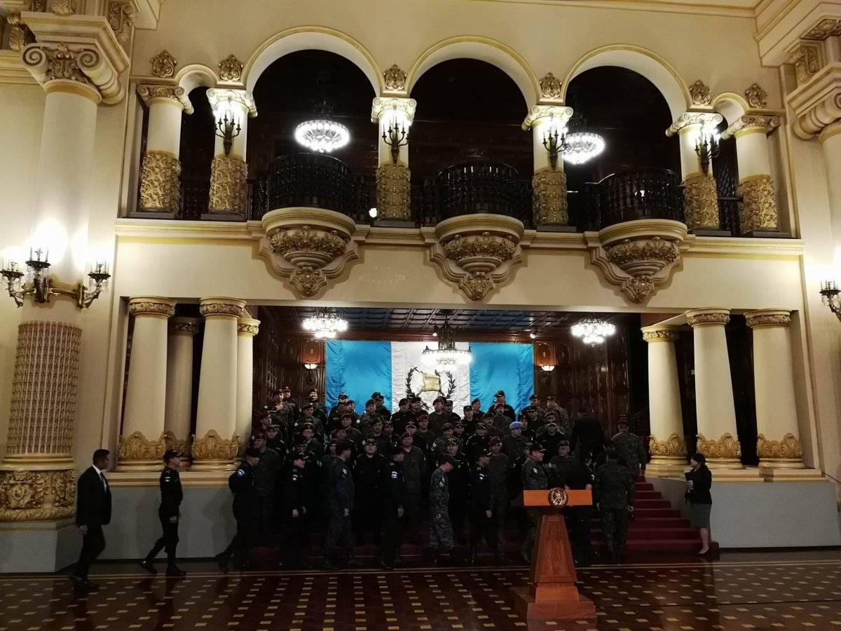 Presidente Jimmy Morales anuncia que el mandato de la CICIG no fue renovado Foto: Omar Solís