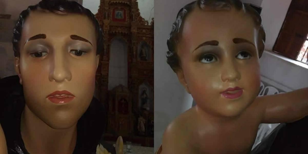 """Nuevo caso de """"Ecce Homo"""" en Colombia, alteraron la imagen de este santo"""