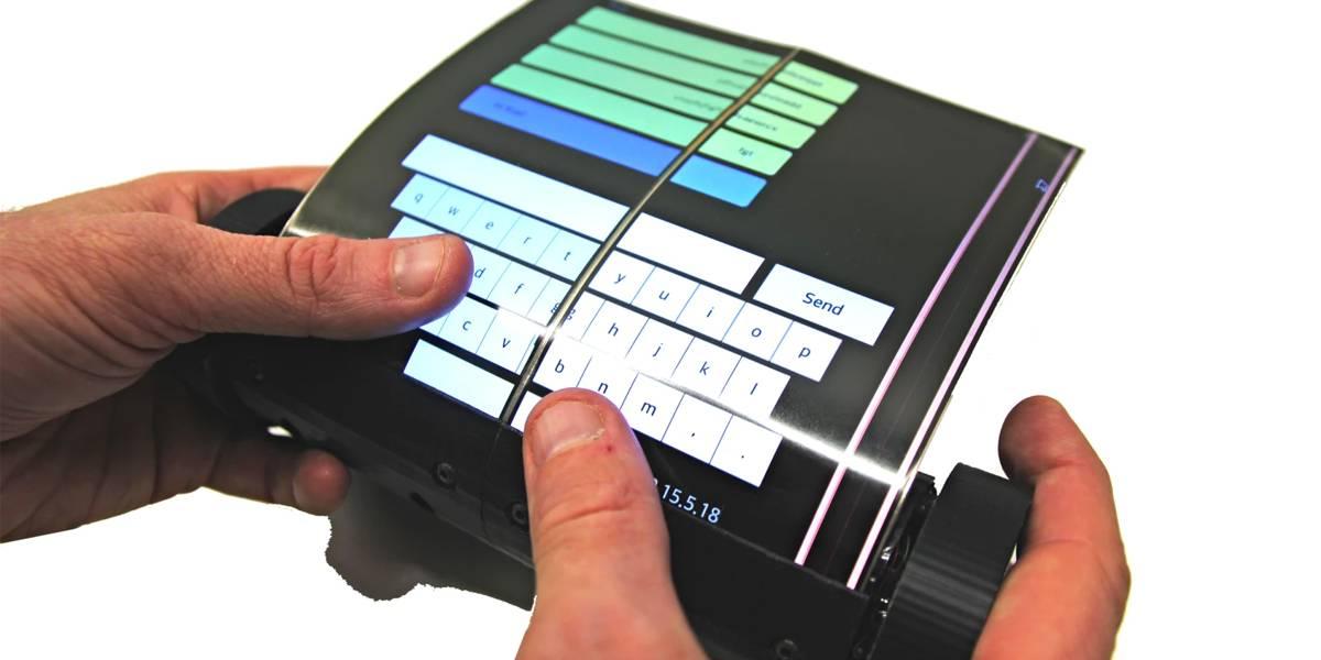 Esta tablet que se enrolla como pergamino parece que viene del futuro