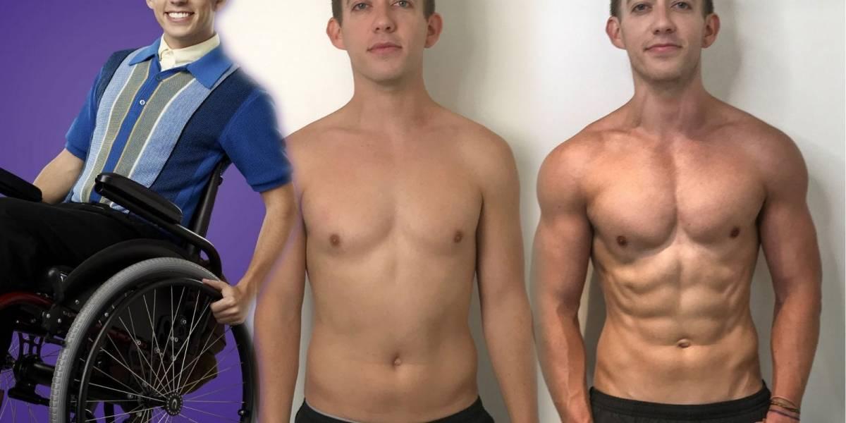 La increíble transformación de Artie, el protagonista de la serie 'Glee'